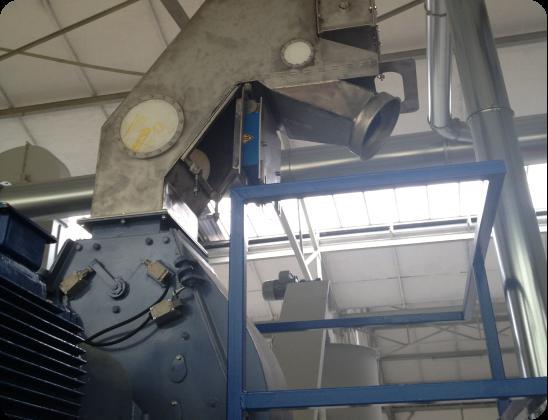 Separador de material pesado/ferromagnetico